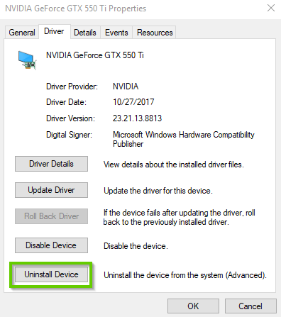 Windows 10 uninstall driver prompt