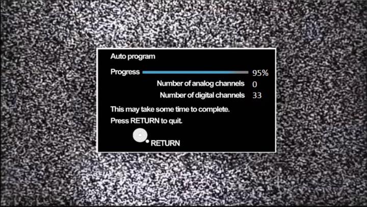 Channel scanning in progress