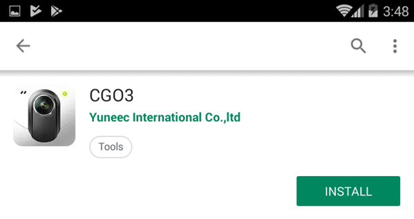 CGO3's install button