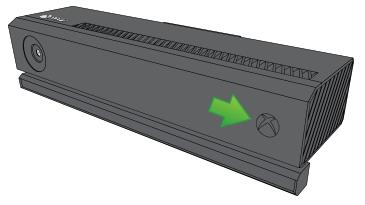 Not bright Xbox logo pointed out on Kinect.