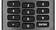Number pad on remote.