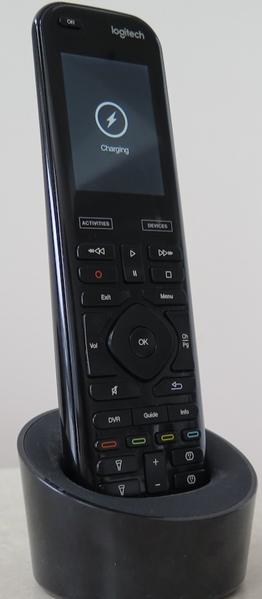 Logitech remote in its cradle
