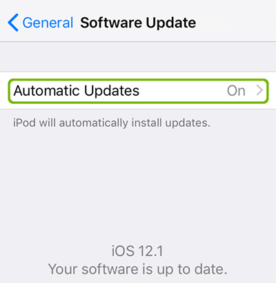 iOS device is up to date