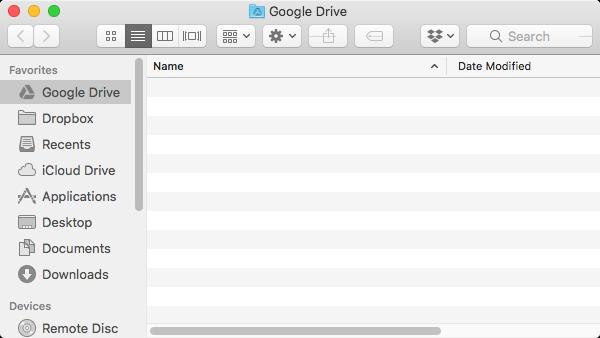 Google Drive folder view.