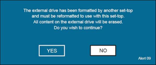 Formatting external drive