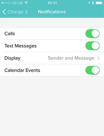 Fitbit Notifications List.