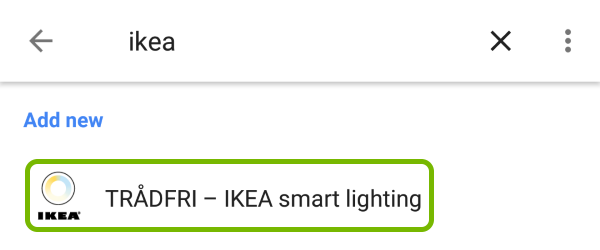 TRADFRI - IKEA smart lighting highlighted in list of devices that work with Google Assistant.