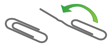 Paperclip being uncoiled.