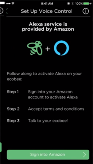 Ecobee4 sign into amazon explanation