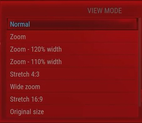 View mode zoom and stretch options.