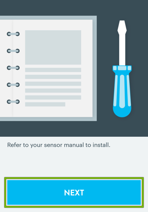 Next button highlighted on light bulb setup instructions screen in Wink app.