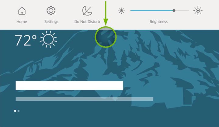 Swipe method shown on Echo Show screen