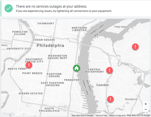 Example Outage Map