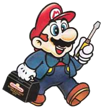 Nintendo's Mario with a toolkit