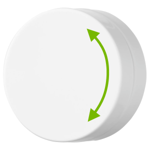 Double pointed arrow showing direction to turn dimmer.