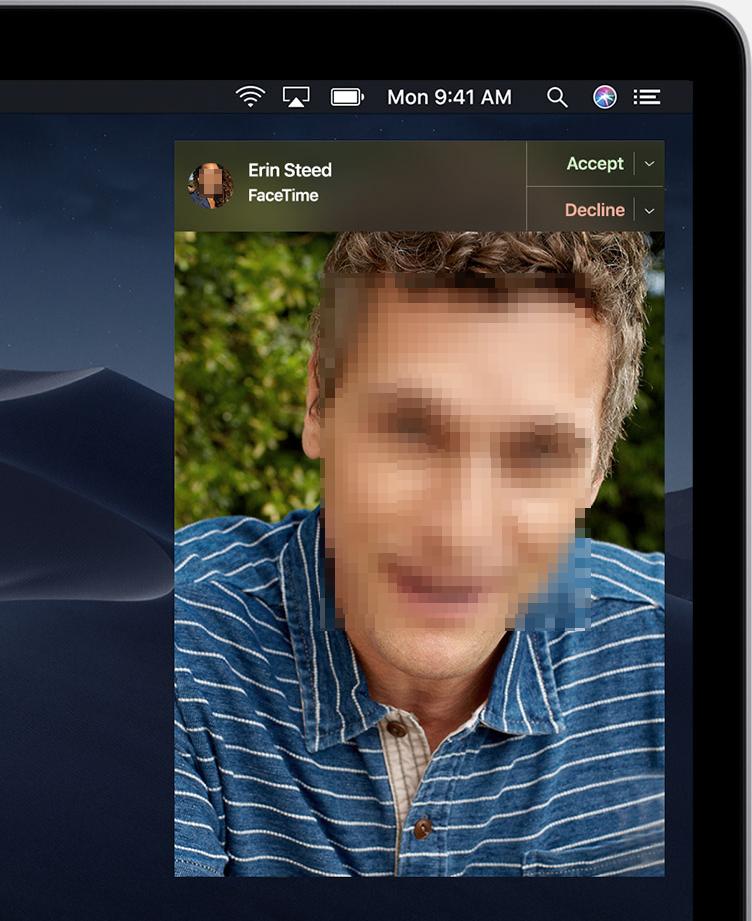 MacOS facetime alert