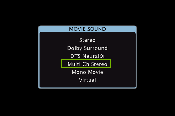 Adjusting the mode to stereo