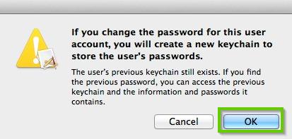 macOS keychain warning