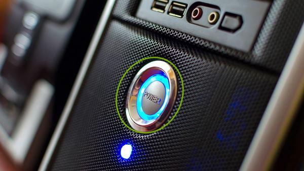 A desktop power button