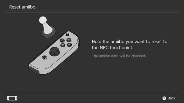 Amiibo reset instructions