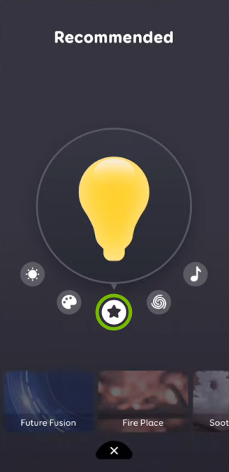 Star icon highlighted for selected bulb in EufyHome app.