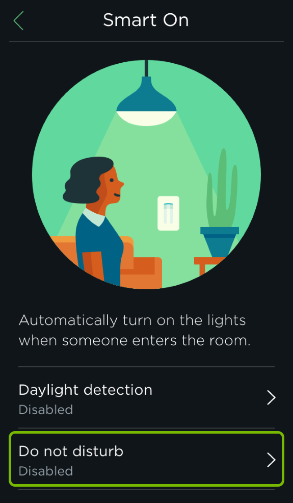 Do not disturb option highlighted in Smart Features of ecobee app.