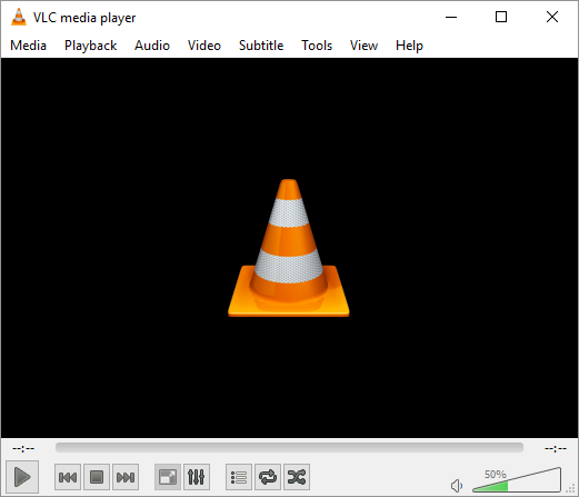 VLC Media Player windows application interface.