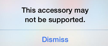 iOS this accessory may not be supported pop up
