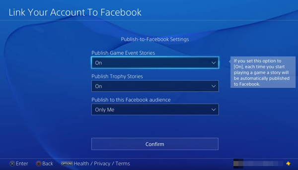 Facebook privacy and upload settings