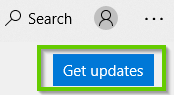 Windows 10 Store Get updates button