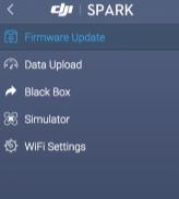 DJI assistant 2 firmware update menu