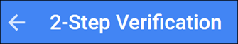 Google 2 step verification icon.