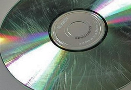 Scratched disc