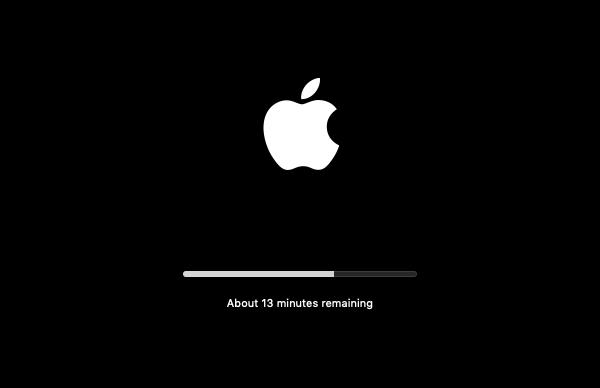 Mac finalizing install.