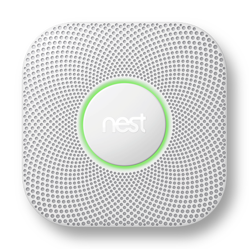 Nest Protect with green lighting