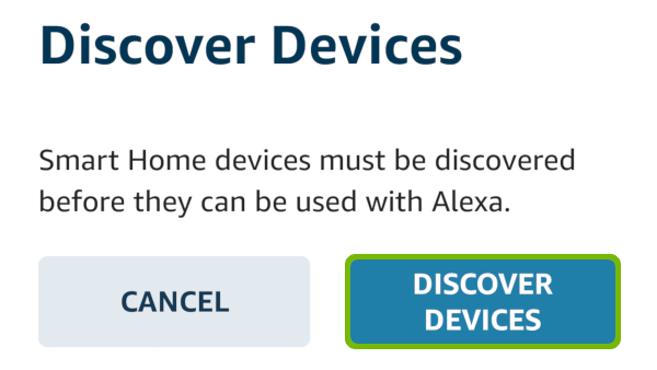Discover Devices with Discover Devices highlighted.