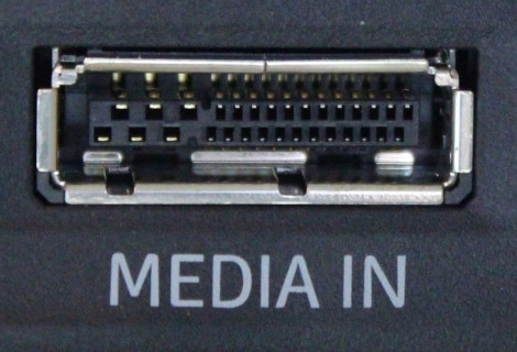 Media Input socket on car dashboard.