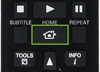 Home button on remote