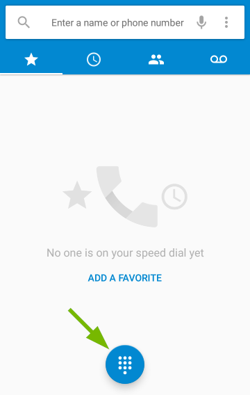 Dialpad pointed out in Android Phone app.