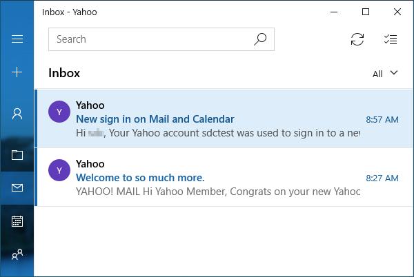 Mail account setup.