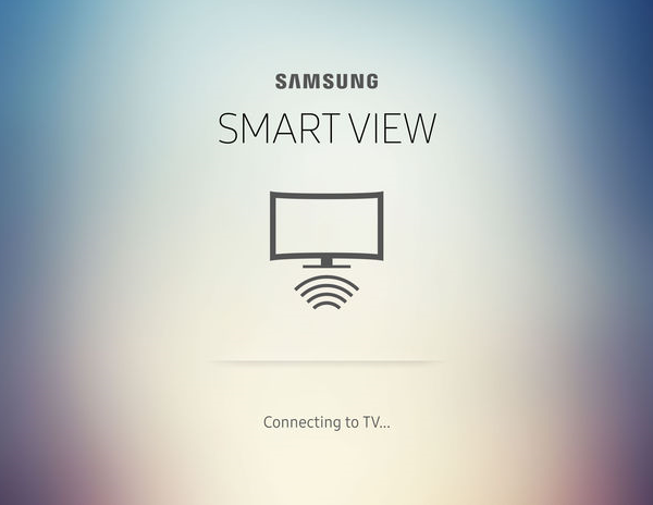 Samsung Smart View app connecting to TV.