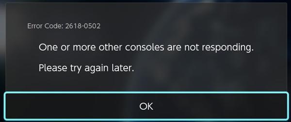 Nintendo 2618-0502 error