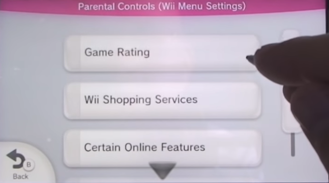 List of settings you can change