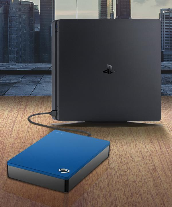 External drive connected to PlayStation 4.