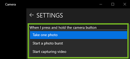 Change what happens when you push the button settings