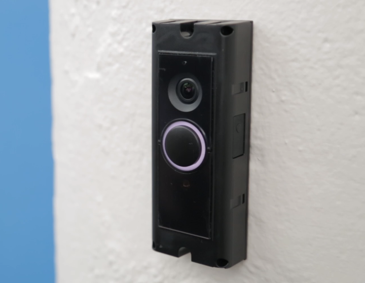 Ring light flashing on front of Ring Video Doorbell Pro.