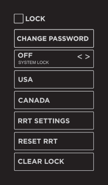 Lock options in Smart TV settings.