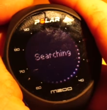 Polar M200 device searching for a device to pair with.
