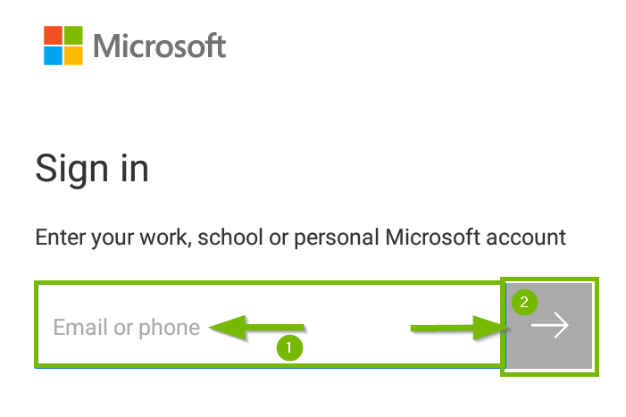 Microsoft onedrive showing sign in
