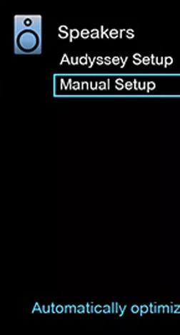 The manual setup option